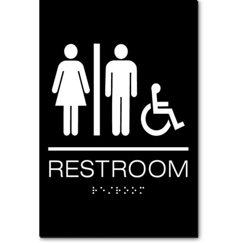 unisex bathrooms california california unisex accessible restroom wall sign ada sign
