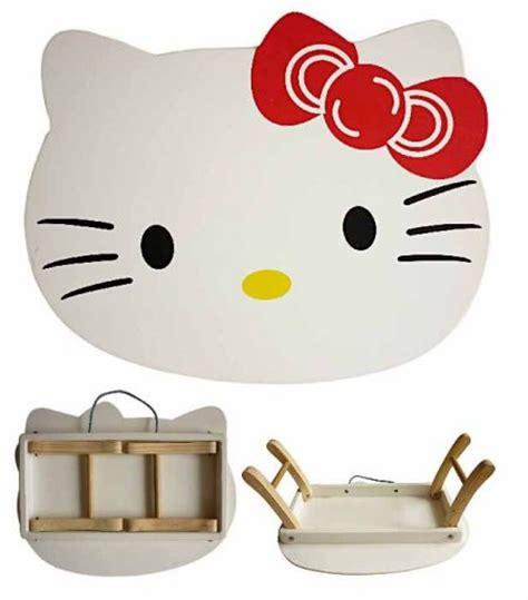 Penggaris Lipat Hello Kity meja lipat karakter hello mainan kayu
