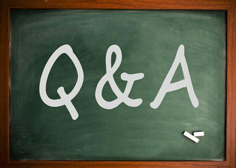 Q A q a session