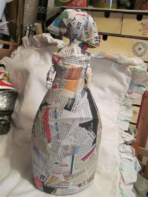 attack doll with bottle paper mache around a plastic bottle to make characters