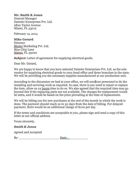 agreement letter template between two agreement letter between two top form templates