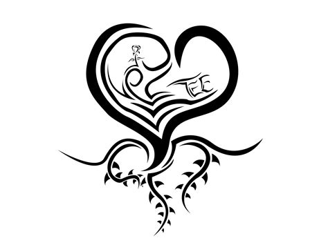 heart tattoo logo black and white heart tattoo clipart best
