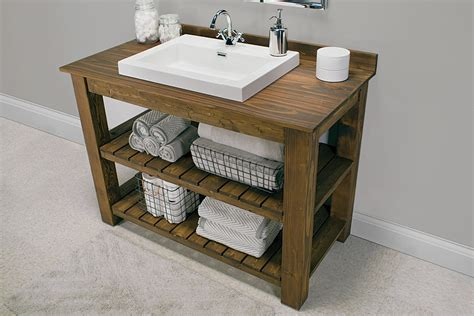 Rustic Bathroom Vanity Buildsomething Com Make Bathroom Vanity