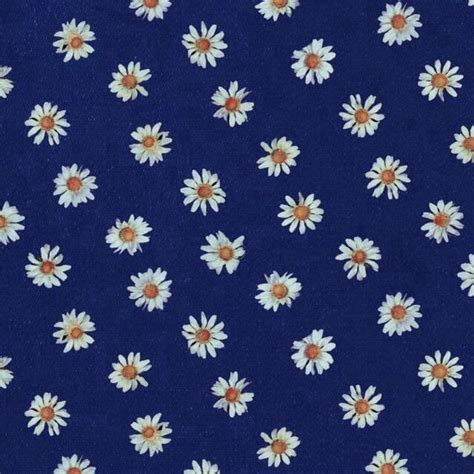 cute navy pattern navy blue background white daisies print patterns