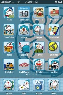 mobile themes doraemon download doraemon apple iphone theme apple theme mobile