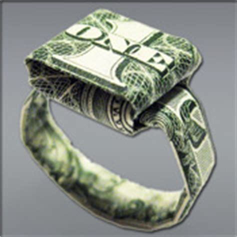 Origami Dollar Bill Ring - dollar ring origami app for iphone books appcolt