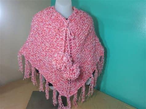 poncho para ni a en crochet y agujas circulares tricot como tejer poncho de ni 241 a a dos agujas youtube