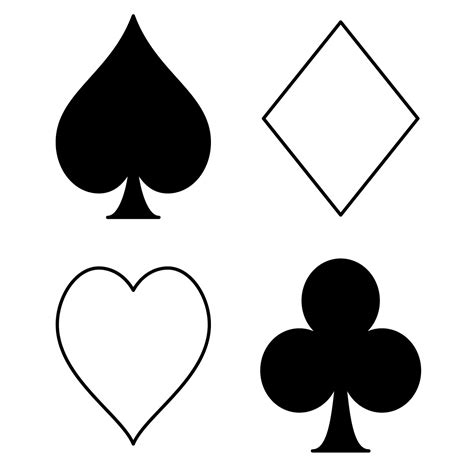 Poker Cards Clip Art Cliparts Co Card Coloring Page