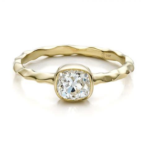 custom hammered gold engagement ring 100300 bellevue