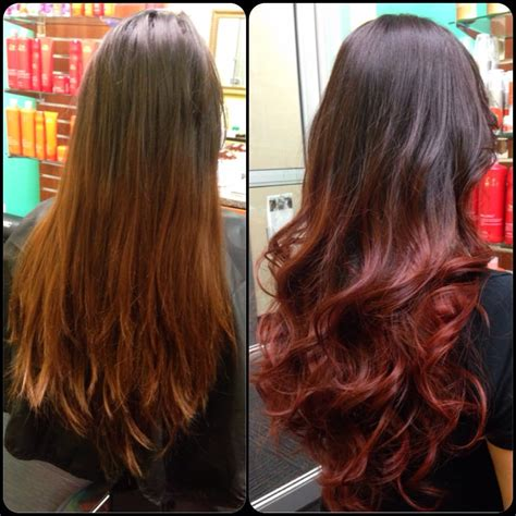 what color line does regis hair salons use before and after changing ombr 233 color yelp