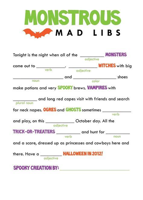 printable mad libs kids mad libs printable free google search classroom