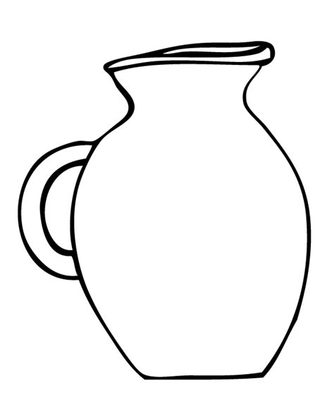 water jug coloring page free coloring pages of and jug