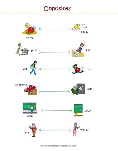 printable worksheets opposites kindergarten opposites worksheets for kindergarten free worksheets