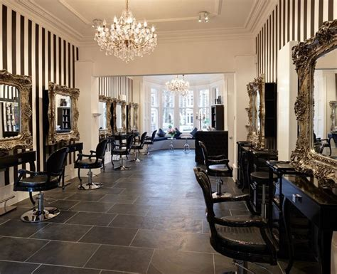 Chandelier Salon Black White Stripes Baroque Mirrors And Chandeliers Looks Like My House A Salon