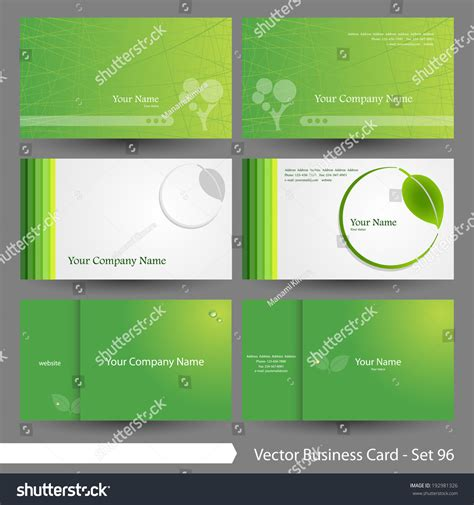 environmental business card template vector business card template set environment stock vector