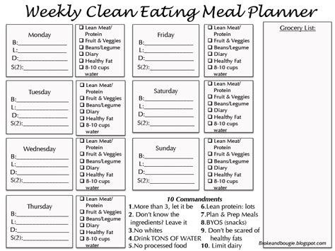 printable clean eating plan 4 best images of 30 day meal planner printable 30 day