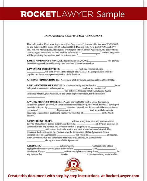 independent contractor agreement california template image gallery independent contractor agreement form