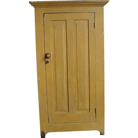 1 Door Pantry Cupboard by Primitive Painted One Door Jelly Pantry Cupboard From