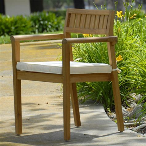 modern teak outdoor furniture teak outdoor patio modern stacking chair quot pari quot