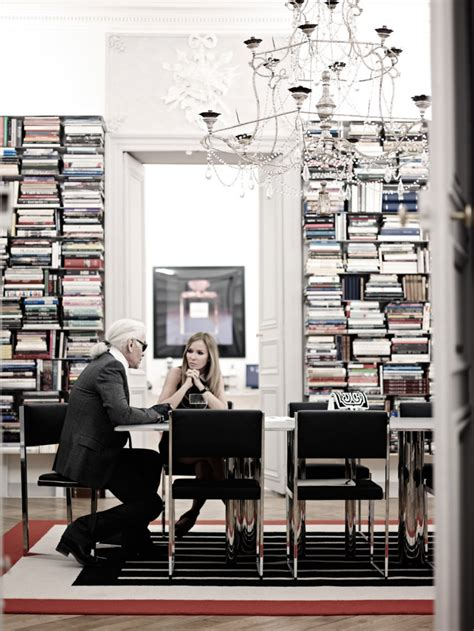home studio design book karl lagerfeld s sideways library core77
