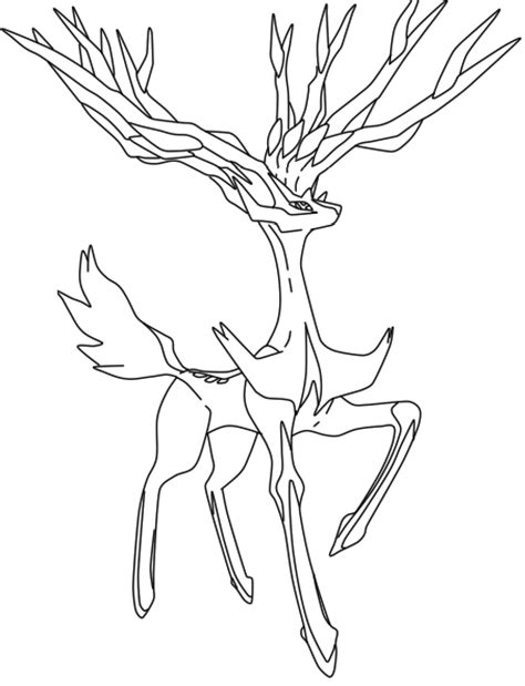 coloring pages pokemon chesnaught drawings pokemon xerneas la free by wolve girl on deviantart