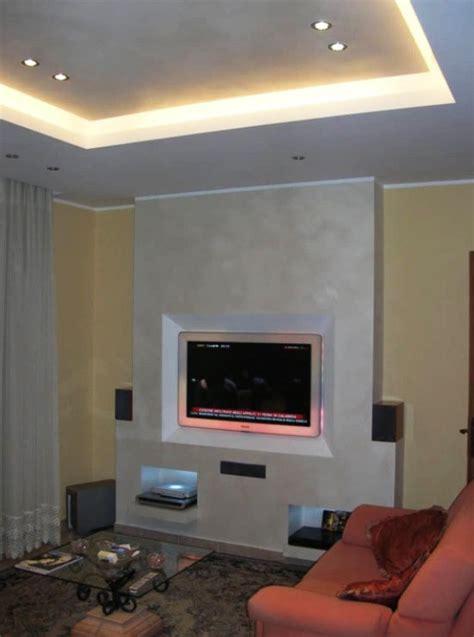 cartongesso porta parete in cartongesso per tv e illuminato with