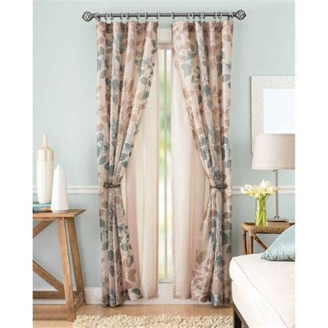 better homes drapes better homes and gardens shadow leaf curtain panel decor