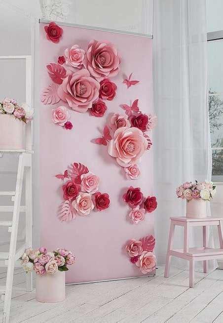 papel mural flores peque 241 as con fondo verde xv papel mural fondos verdes y murales decorar paredes de forma creativa ideas y consejos fotos foto ella hoy