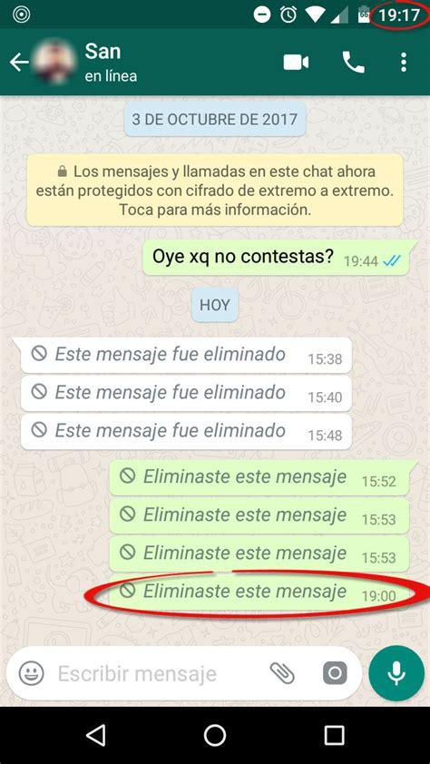 imagenes para whatsapp mensajes truco para borrar mensajes de whatsapp despu 201 s de los 7