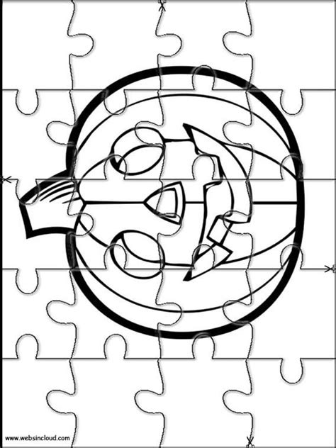 halloween coloring pages and puzzles printable jigsaw puzzles to cut out for kids halloween 23