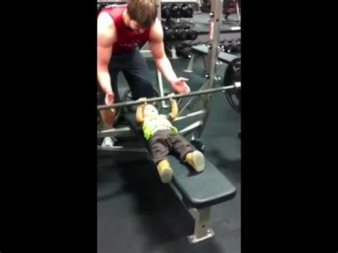 light bench press strongest baby bench press light weight baby 135 youtube