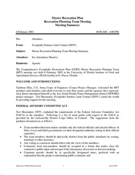 Meeting Summary Report Template 5 Meeting Summary Template Bookletemplate Org