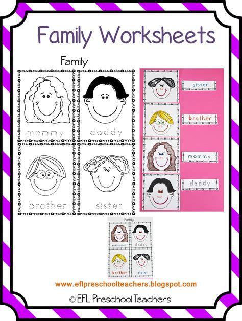 worksheets for preschool about family esl efl preschool teachers family theme for ell