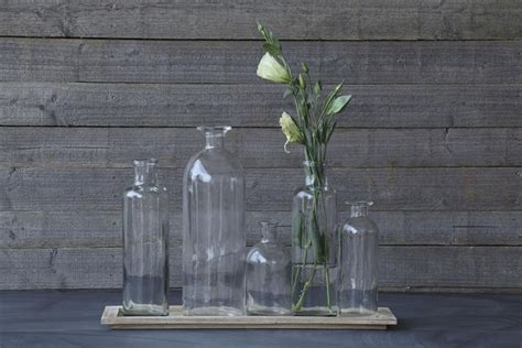 Long Glass Centerpiece Vases: Wedding Table Decorations
