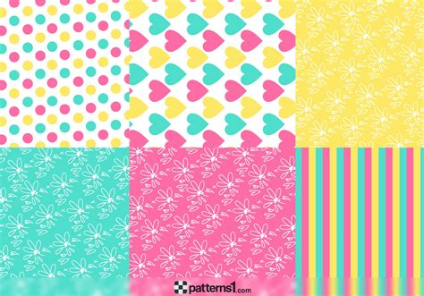 cute pattern set set of cute patterns for children designs vector pattern