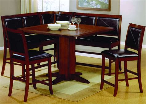 Corner Dining Set With Chairs Dining Room Set Counter Height Table Corner Seating New Ebay