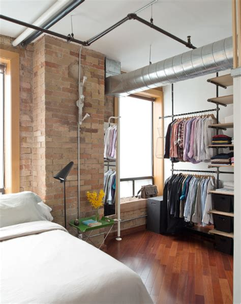 open closet design 15 uses for pipe shelving around the house