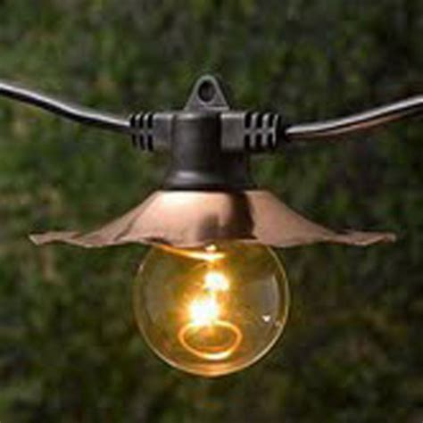 Light Bulb Strings Outdoor Decorative String Lights With Copper Shades Bulbs Not Included Sl3507c Destination Lighting