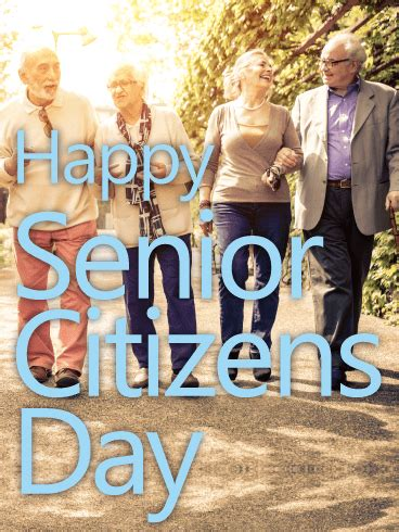 fun  happy senior citizens day card birthday greeting cards  davia