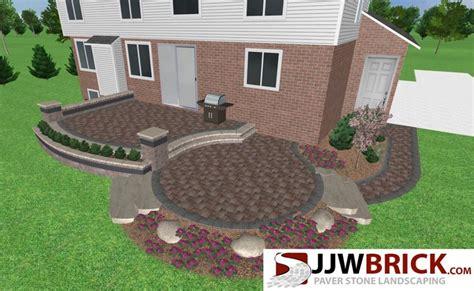 raised paver patio designs 17 best 3d landscape design ideas mi images on
