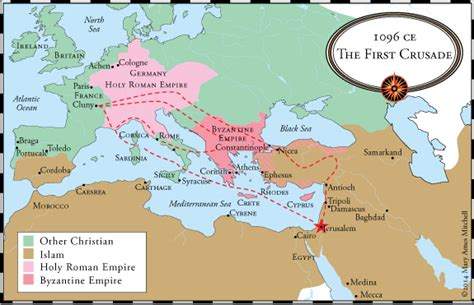maps of the crusades crossing the sea the crusades