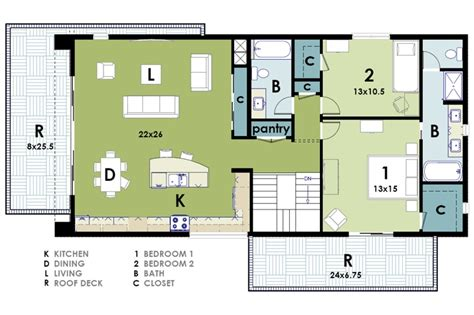 small modern floor plans small ultra modern house plans open kitchen living dining space rugdots