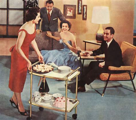 entertaining dinner the 1950s
