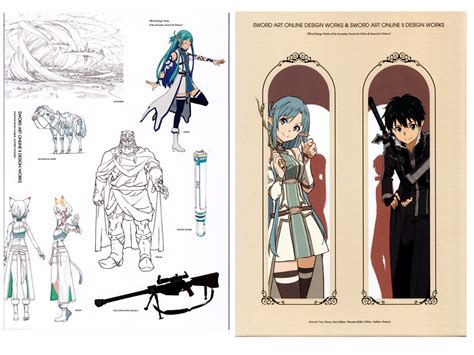 sword abec artworks books sword design works official book anime books