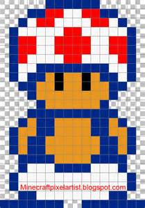 mario pixel template minecraft pixel templates and tutorials toad