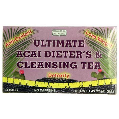 Acai Detox Tea by Only Ultimate Acai Dieter S And Cleansing Tea 24
