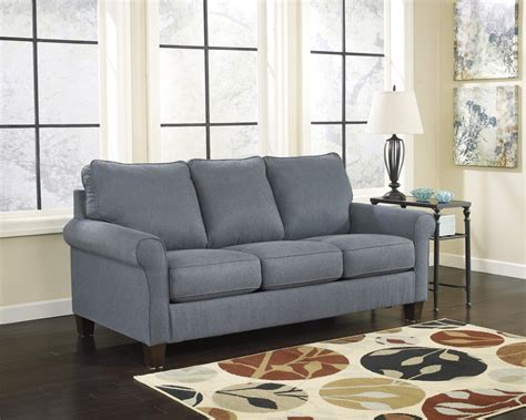 ashley furniture queen sleeper sofa zeth denim queen sofa sleeper signature design by ashley