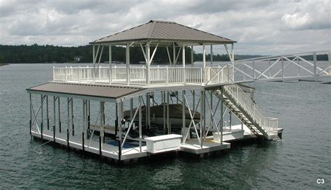 aluminum boat docks flotation systems sundeck combo boat dock gallery