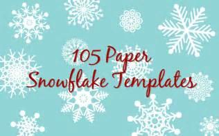 Printable paper snowflake templates