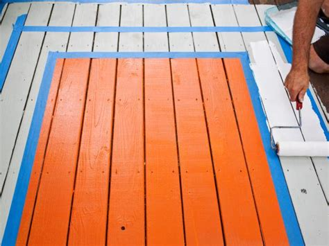 spruce up a deck with a painted quot rug quot hgtv